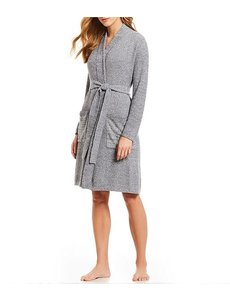 BAREFOOT DREAMS COZYCHIC LITE RIBBED ROBE - HEATHERED BLUE