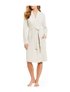 BAREFOOT DREAMS COZYCHIC LITE RIBBED ROBE - HEATHERED SILVER