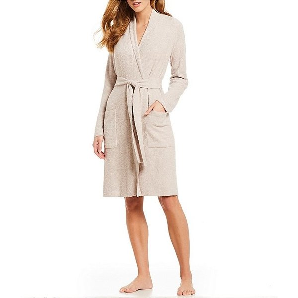 BAREFOOT DREAMS COZYCHIC LITE RIBBED ROBE - HEATHERED ROSE