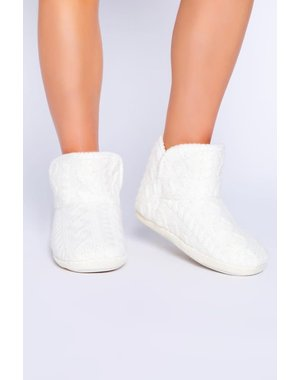 PJ SALVAGE CABLE KNIT BOOTIE SLIPPER