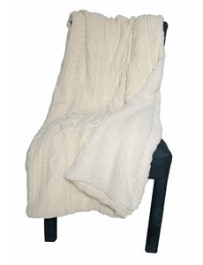 """KNIT THROW WITH SHERPA BACKING 60""""x70"""""""