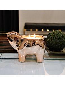 THOMPSON FERRIER ROSE GOLD ELEPHANT CANDLE - CASHMERE PETALS
