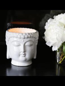 THOMPSON FERRIER WHITE BUDDHA CANDLE - GARDENIA