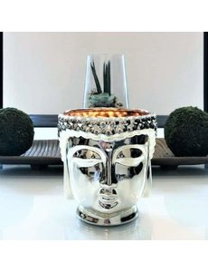 THOMPSON FERRIER SILVER BUDDHA CANDLE - MIDNIGHT ORCHID