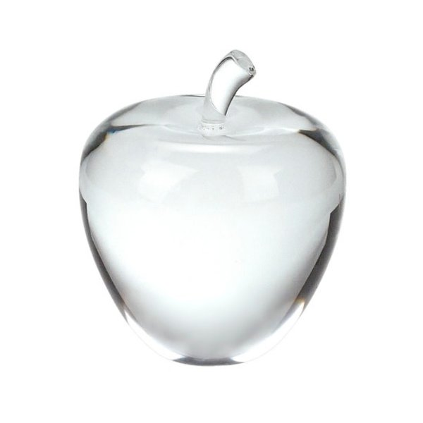 """3.5"""" CRYSTAL APPLE PAPERWEIGHT"""