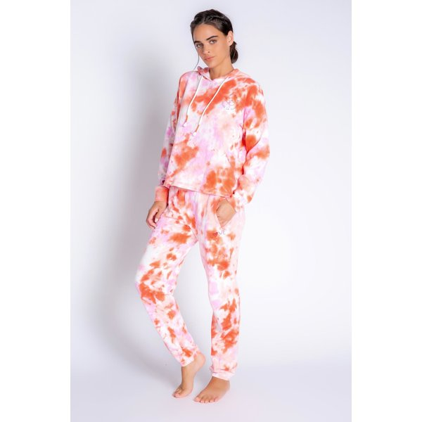 PJ SALVAGE PJ SALVAGE FIRE TIE-DYE LOUNGE SET