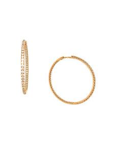 LISA NIK 18K RG 1.10 CT DIAMOND HINGED INSIDE OUT HOOP EARRINGS