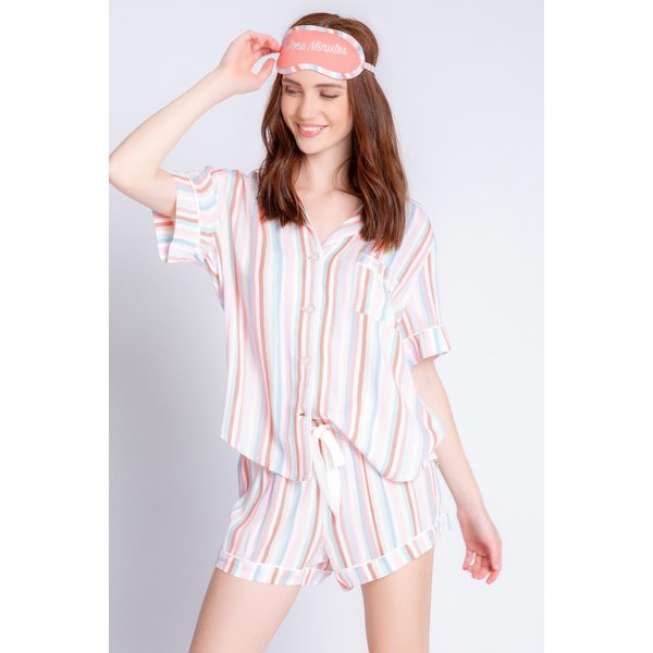 PJ SALVAGE PJ SALVAGE SATURDAY MORNING MULTI-STRIPE SET