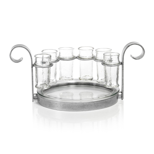 ZODAX CABO 6 SHOT TEQUILA SET SILVER
