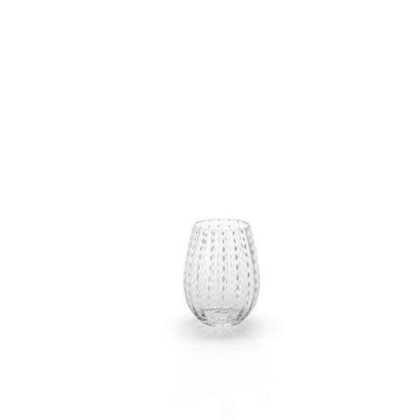 ZODAX WHITE DOT STEMLESS GLASS