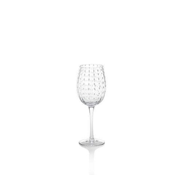 ZODAX WHITE DOT WINE GLASS