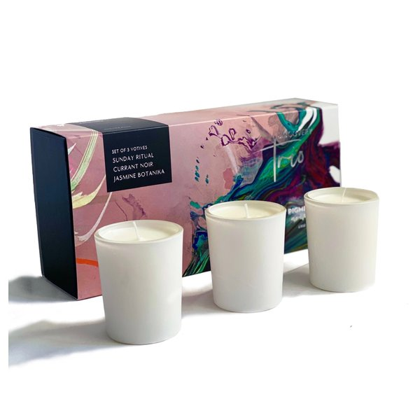 PIGMINT PIGMINT AROME TRIO OF CANDLE VOTIVES 3OZ