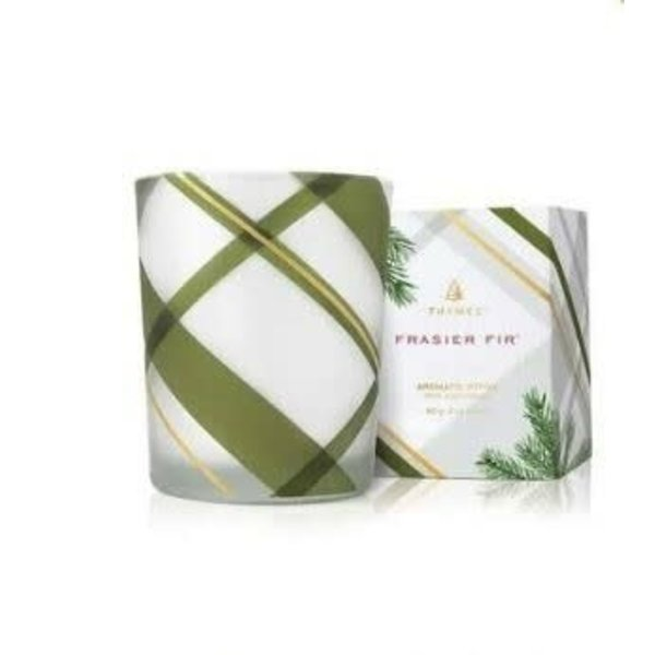 THYMES FRASIER FIR FROSTED PLAID VOTIVE CANDLE