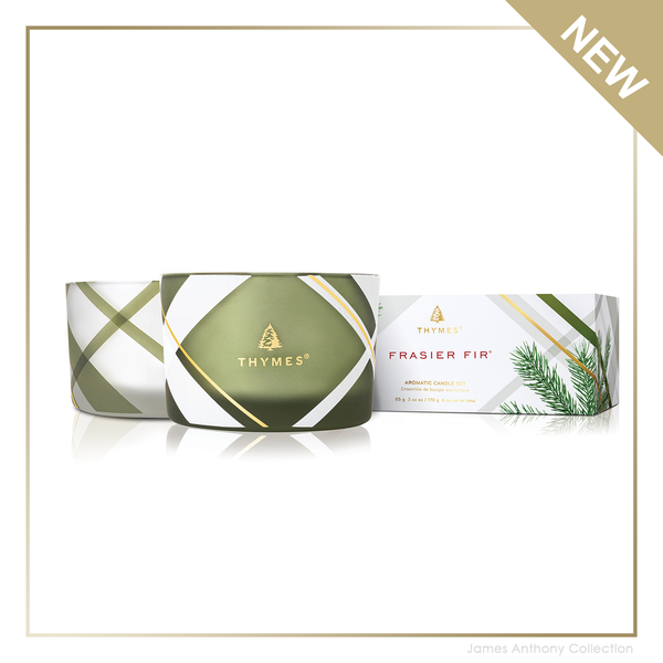 THYMES FRASIER FIR FROSTED PLAID SET/2