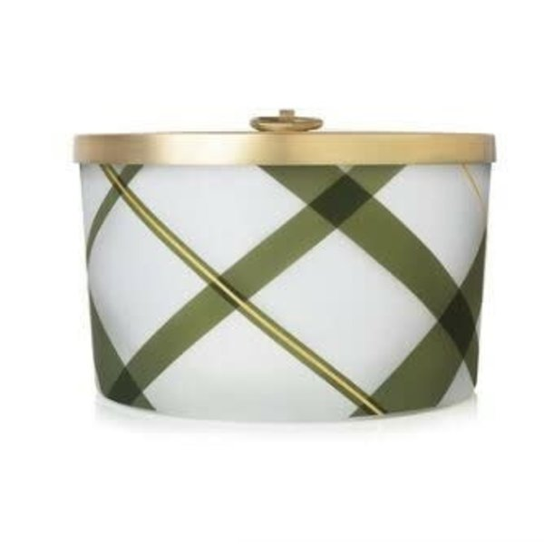 THYMES FRASIER FIR FROSTED PLAID CANDLE 18OZ