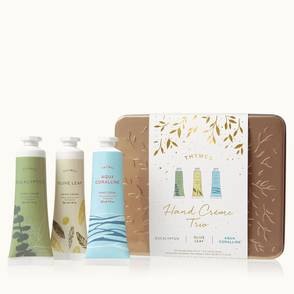 THYMES EUCALYPTUS, OLIVE LEAF AND VETIVER ROSEWOOD HAND CREAM TRIO