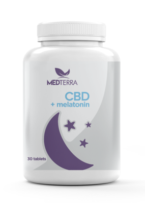 Medterra Medterra CBD 25 mg + Melatonin 10 mg Gel Capsules