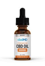 cbdMD cbdMD CBD Oil Tincture Drops 5000 mg Berry 30 ml