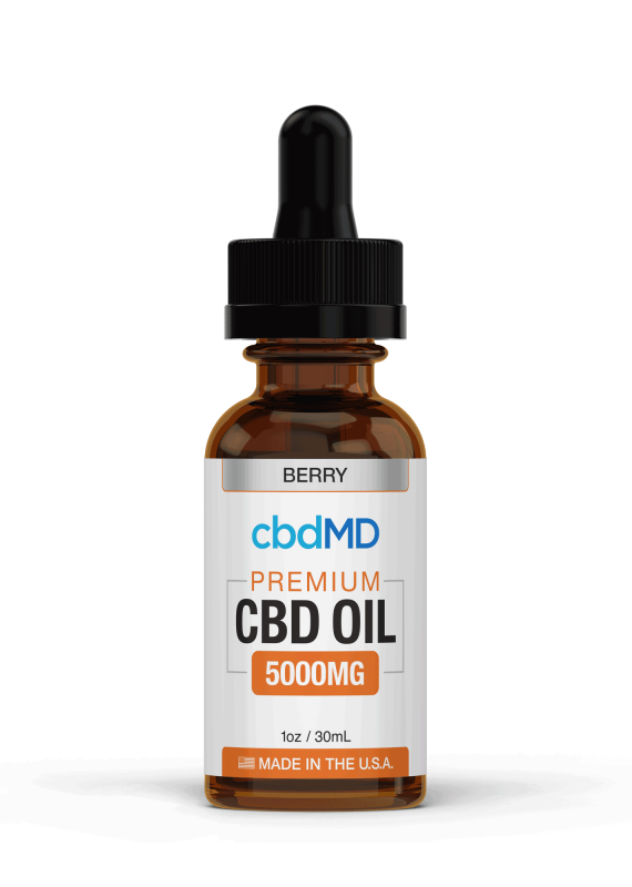 cbdMD cbdMD CBD Oil Tincture 5000 mg Berry 30 ml