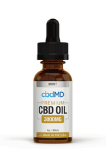 cbdMD cbdMD CBD Oil Tincture Drops 3000 mg Mint 30 ml