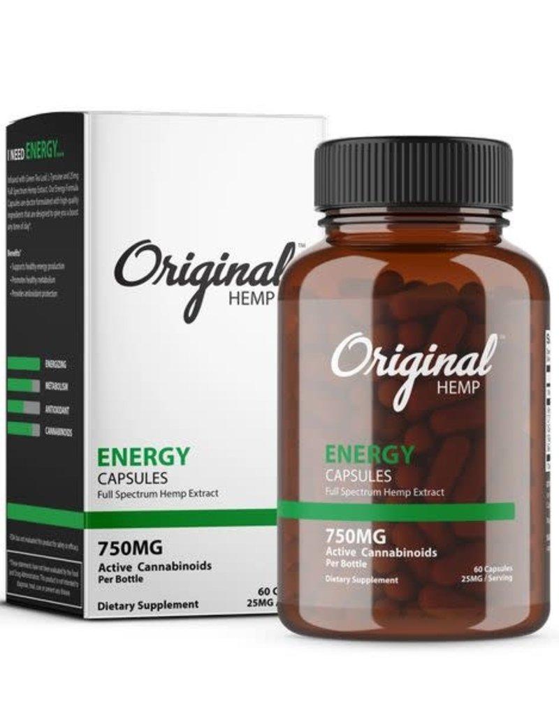Original Hemp Original Hemp Energy Formula Capsules 750 mg