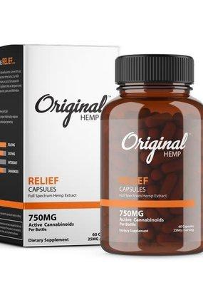 Original Hemp Original Relief Formula Capsules 750 mg