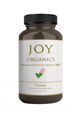 Joy Organics Joy Softgels 25 mg CBD + Curcumin