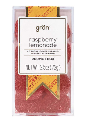 Gron Gron Rasp Lemon Pearls (200mg)
