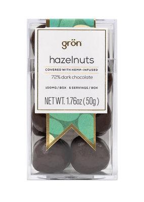 Gron Gron Dark Chocolate Covered Hazelnuts (100mg)