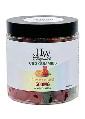 HW Organics HW Gummy Bears 500 mg