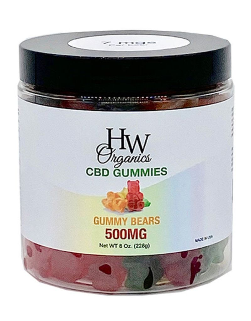 HW Organics HW Gummy Bears 500 mg