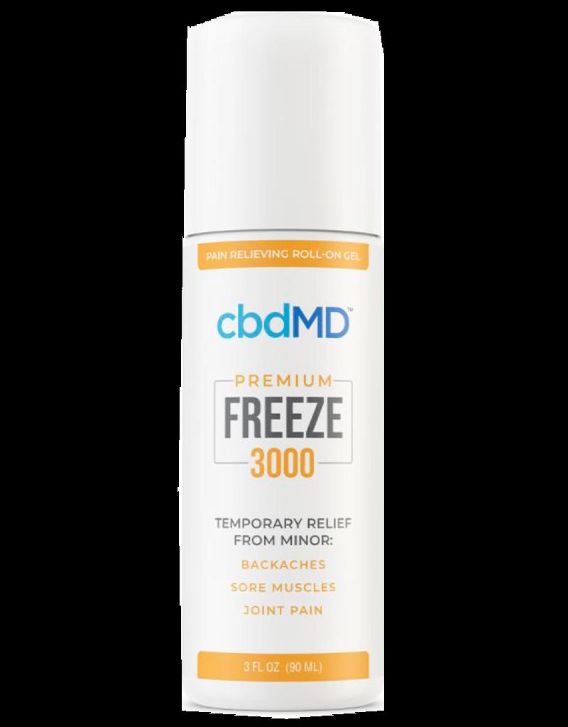 cbdMD CBDMD Freeze 3000 mg 3 oz Roll-on