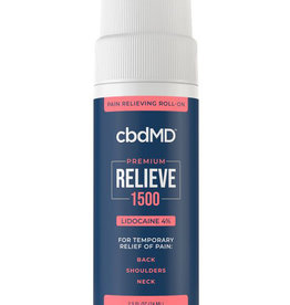 cbdMD cbdMD Relieve 1500 mg Lidocaine Roll-on