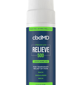 cbdMD cbdMD Relieve 500 mg Lidocaine Roll-on