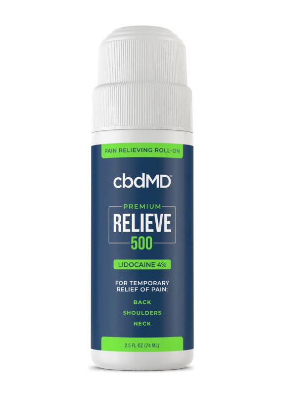 cbdMD cbdMD Relieve 500 mg Lidocaine Roll-on