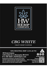 HW Hemp Co HW Hemp Company CBG White Flower