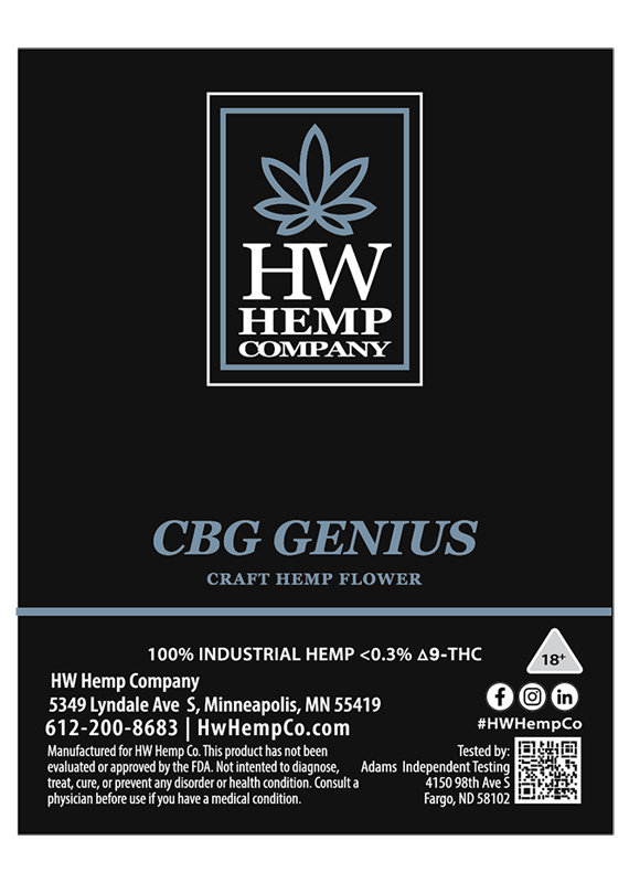 HW Hemp Co HW Hemp Company CBG Genius Flower