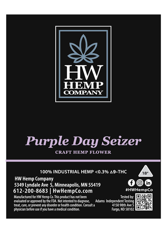 HW Hemp Co HW Hemp Company CBD Purple Day Seizer