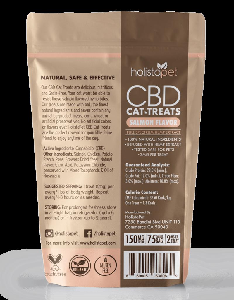 HolistaPet CBD Cat Treats Salmon Flavor