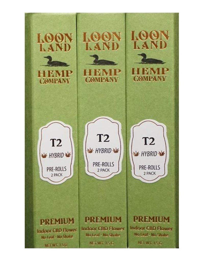Loon Land Hemp Company Preroll T2 2pk