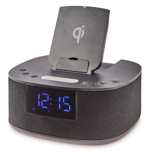 onn. onn. Clock Radio with Wireless Charging
