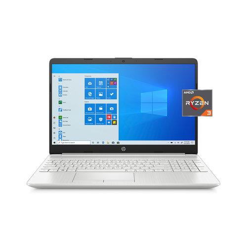 HP HP 15, AMD Ryzen 3 3250U, 4GB SDRAM, 1TB HDD + 128GB SSD, Natural Silver, Windows 10, 15-gw0010wm