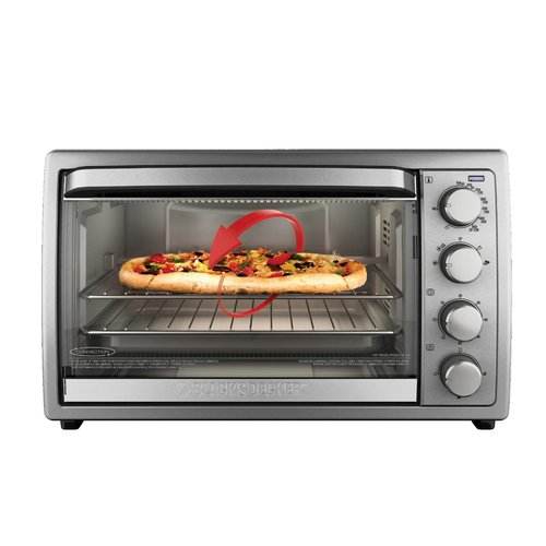 BLACK+DECKER BLACK+DECKER Rotisserie Convection Countertop Toaster Oven, Stainless Steel, TO4314SSD