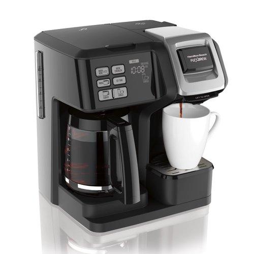 Hamilton Hamilton Beach FlexBrew Trio Coffee Maker, Single-Serve, Black & Silver, Model 49954