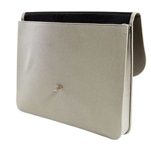 """Staples Light Grey Document Case With Gold Closure, 1"""" Expansion, Legal (51823)"""