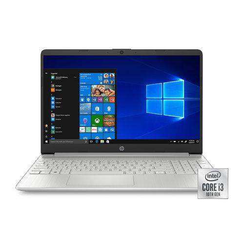 HP HP 15 Laptop, Intel Core i3-1005G1, 4GB SDRAM, 128GB SSD, Natural Silver, 15-dy1024wm