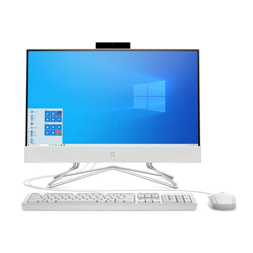 HP HP 22 AIO Celeron White 4GB/256GB Desktop All-In-One  (Model: 22-df0003w)