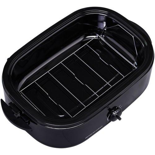 Mainstays Mainstays 14 Quart Roaster Oven Black with Removable Steel Roasting Rack