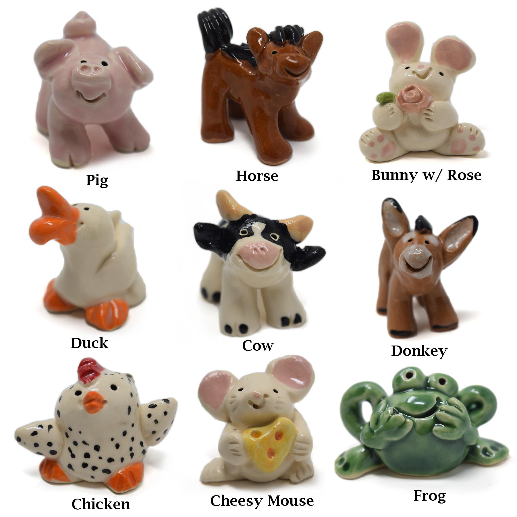 Little Guys Ceramic Animals-6