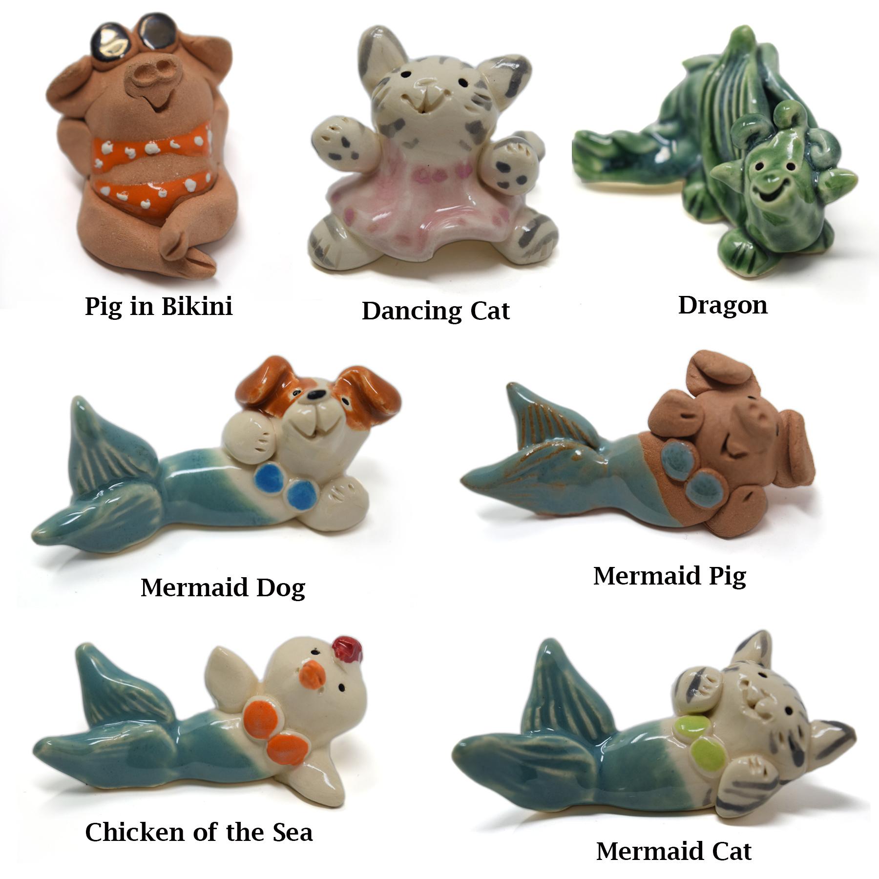 Little Guys Ceramic Animals-8
